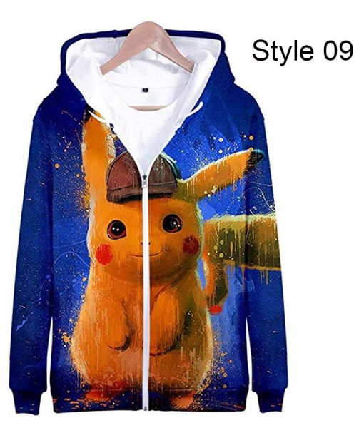 Pokémon Detective Pikachu Adorable Zipper Hoodie