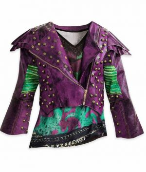 Dove Cameron Descendants 2 Mal Motorcycle Leather Jacket Womens