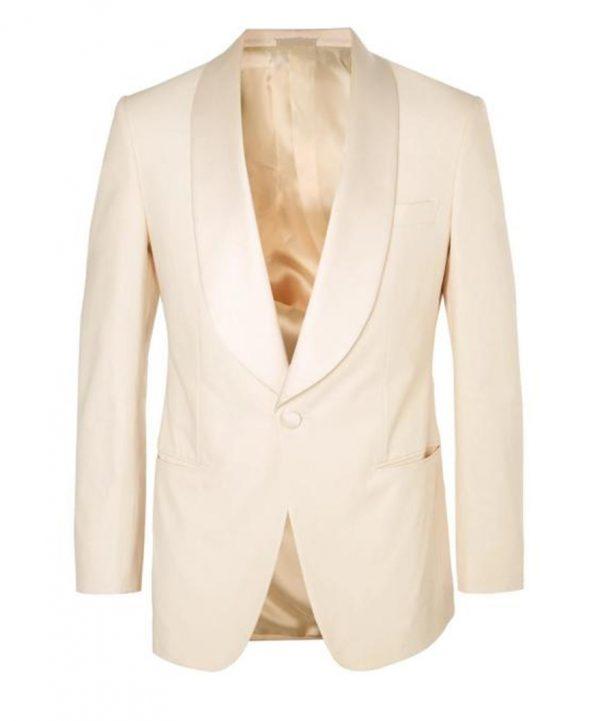 Kingsman Ivory Dinner Tuxedo Jacket With Free Bow Tie