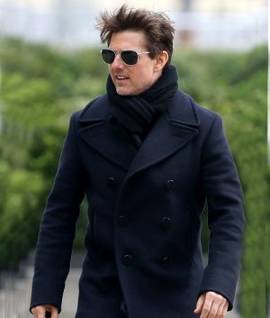 Tom Cruise Mission Impossible 6 Ethan Hunt Navy Blue Wool Coat