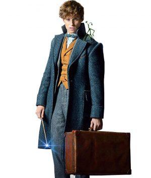 Fantastic Beasts The Crimes Of Grindelwald Eddie Redmayne Newt Scamander Grey Coat