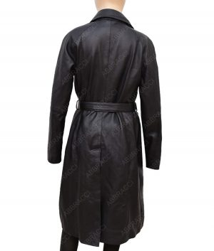 Katherine Waterston Fantastic Beasts 2 Tina Goldstein Leather Coat