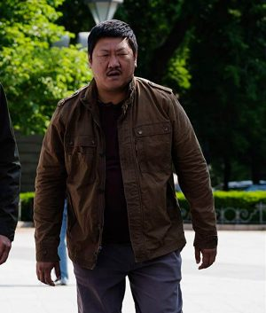 Gemini Man Benedict Wong Baron Brown Cotton Jacket