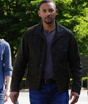Will Smith Henry Brogan Gemini Man Junior Cotton Jacket