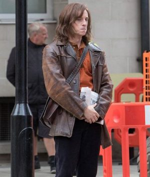 Jamie Bell Rocketman Bernie Taupin Brown Jacket