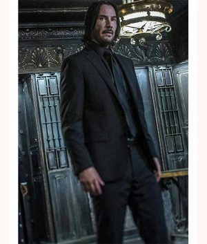 John Wick Keanu Reeves Chapter 3 Parabellum Black Suit