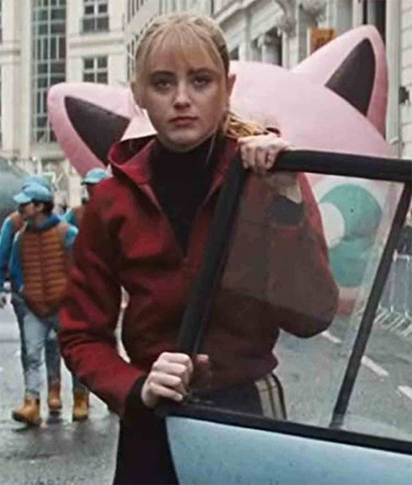 Kathryn Newton Pokemon Detective Pikachu Lucy Hooded Red Jacket