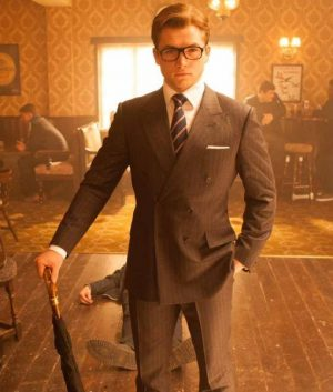 Eggsy Kingsman Double Breasted Suit