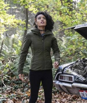 Legends Of Tomorrow S05 Ep9 Maisie Richardson-Sellers Charlie Jacket With Hood