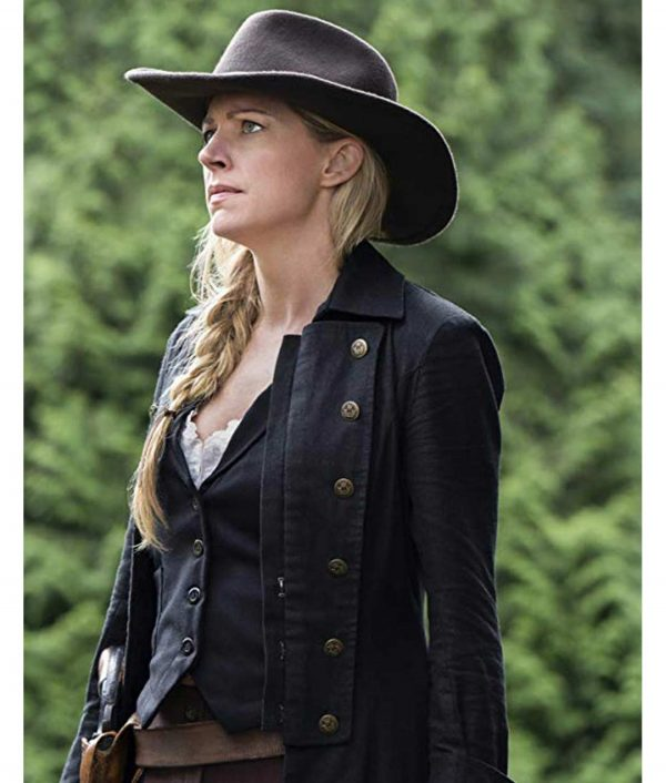 Jes Macallan Legends Of Tomorrow S05 Black Leather Ava Sharpe Coat