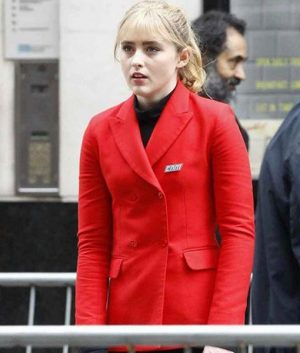 Lucy Stevens Pokemon Detective Pikachu Kathryn Newton Red Jacket