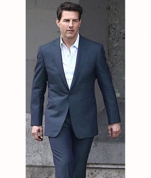 Ethan Hunts Mission Impossible 6 Tom Cruise Single Button Suit