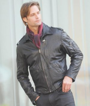 Hanaway Mission Impossible Ghost Protocol Josh Holloway Black Leather Jacket