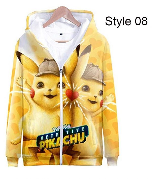 Pokémon Detective Pikachu Stunning Zipper Hoodie