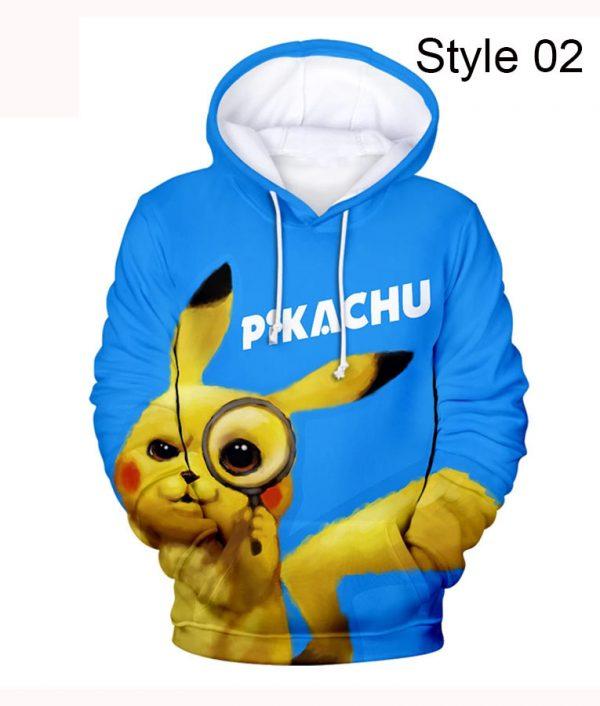 Pokémon Detective Pikachu Zipper Colorful Hoodie