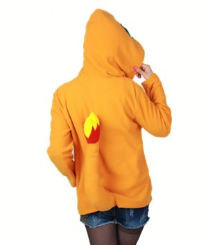 Pokemon Charmander Costume Orange Hoodie