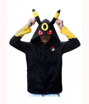Pokemon Go Pikachu Umbreon Black Hoodie