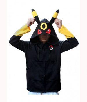 Pokemon Go Pikachu Umbreon Black Hoodie