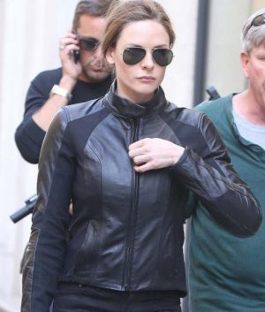 Ilsa Faust Mission Impossible 6 Rebecca Ferguson Black Biker Jacket