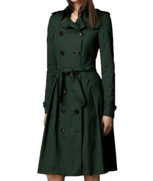 Mission Impossible 5 Rebecca Ferguson Green Trench Coat