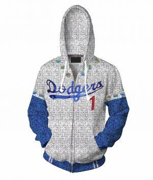 Rocketman Elton John Dodgers White Hoodie