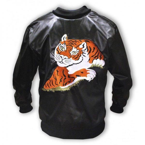 Rocky Balboa Tiger Bomber Leather Jacket