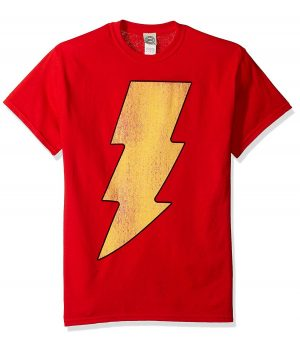 Shazam Logo Red Mens T-Shirt