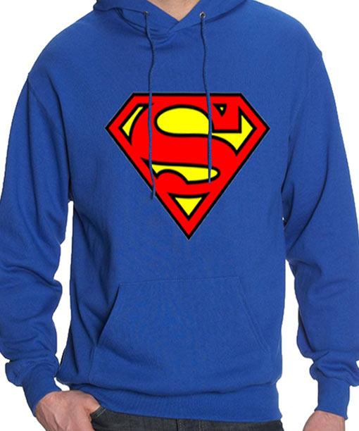 Superman 'S' Logo Blue Pullover Hoodie