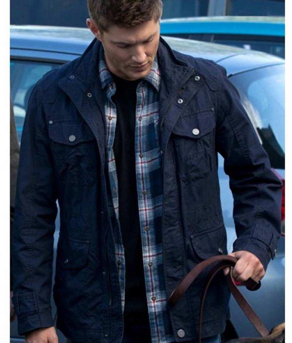Jensen Ackles Supernatural Dean Winchester Blue Cotton Jacket