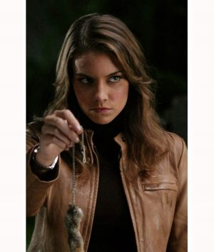 Lauren Cohan Supernatural TV Series Bela Talbot Leather Jacket