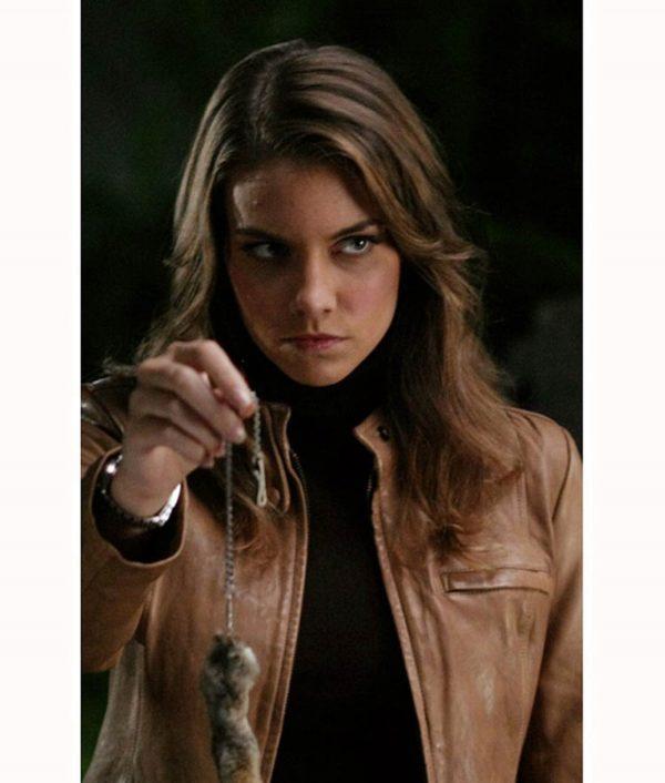 Lauren Cohan Supernatural TV Series Bela Talbot Leather Jacket