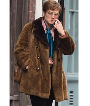 Rocketman Taron Egerton Shearling Jacket