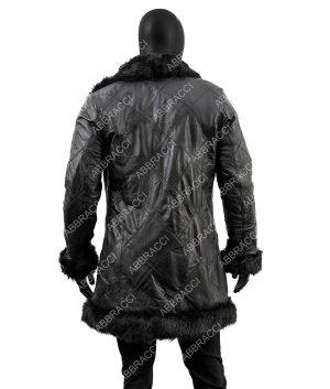 Robert Sheehan The Umbrella Academy Klaus Hargreeves Shearling Fur Trench Coat