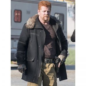The Walking Dead Sgt. Abraham Ford Michael Cudlitz Fur Collar Jacket