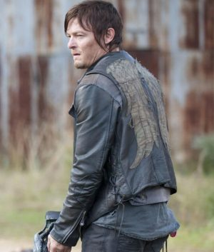 The Walking Dead Daryl Dixon Angel Wings Leather Vest