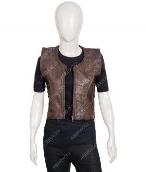 Danai Gurira Michonne The Walking Dead Leather Vest