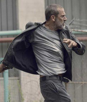 The Walking Dead Negan Season 9 Black Leather Jacket