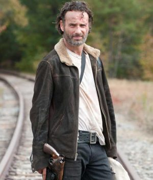 The Walking Dead Rick Grimes Andrew Lincoln Suede Leather Jacket