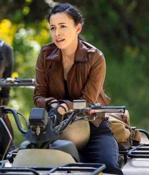 The Walking Dead Season 9Christian Serratos Brown Leather Jacket