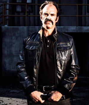 The Walking Dead Steven Ogg Simon Black Bomber Jacket