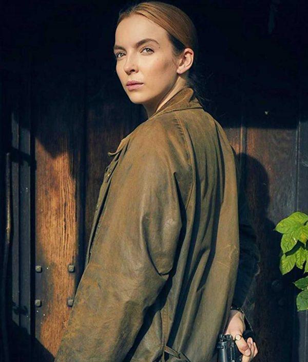 Killing Eve Jodie Comer Brown Coat