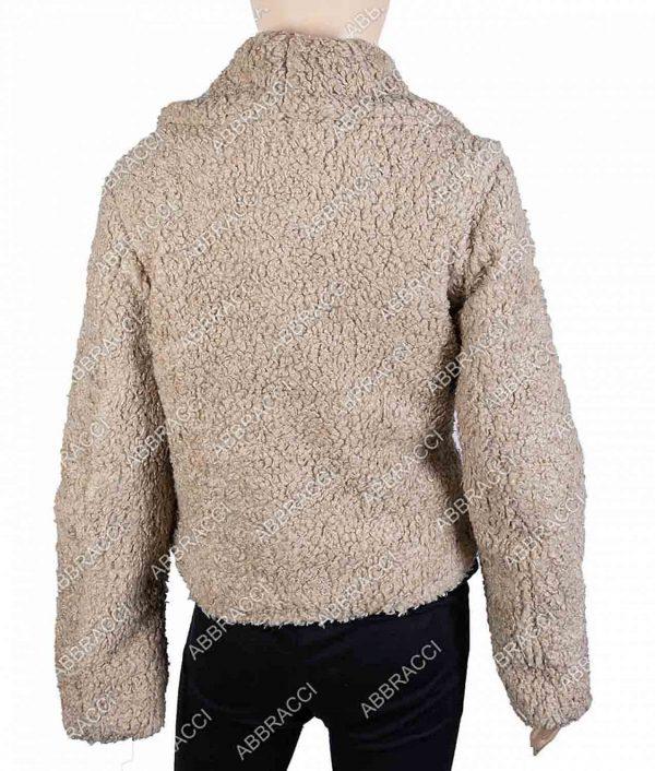 Villanelle Killing Eve Jodie Comer Faux Shearling Fur Jacket