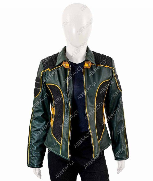 Arrow Spinoff Laurel Lance Leather Jacket