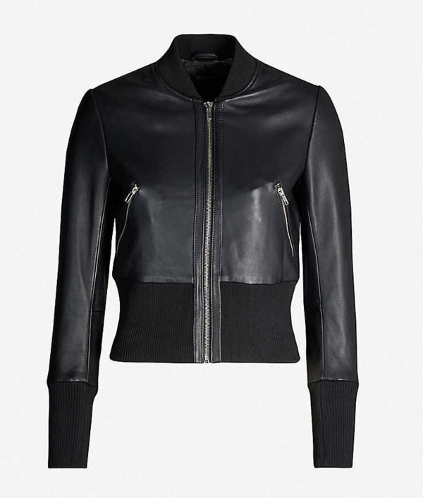 Arrow Season 08 Laurel Lance Leather Bomber Jacket