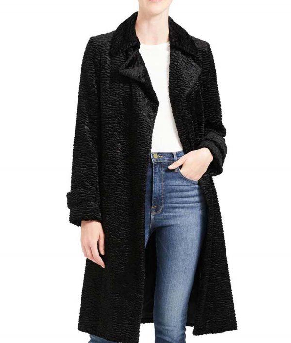 Arrow Season 08 Black Thea Queen Textured Coat
