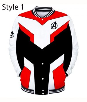 Avengers Endgame Quantum Realm Varsity Red Jacket