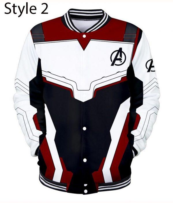 Avengers Endgame Quantum Realm Letterman Black Jacket