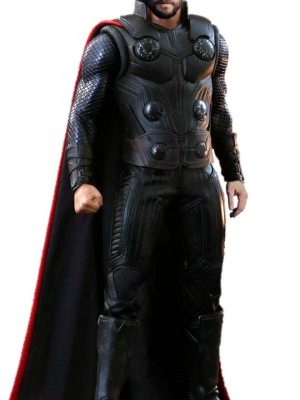 Avengers Infinity War Thor Chris Hemsworth Leather Vest