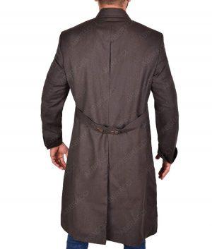 Schwarz EU Fashions Benedict Cumberbatch Sherlock Holmes Herren Trenchcoat aus Wolle