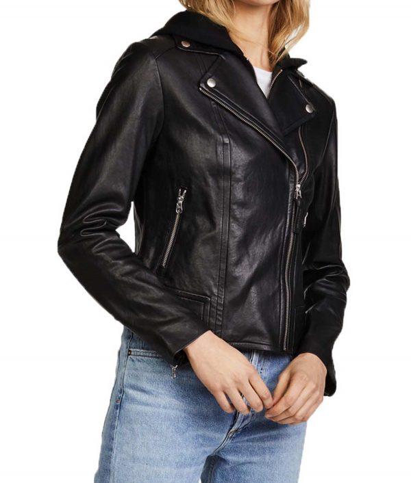 Black Siren Motorcycle Leather Jacket